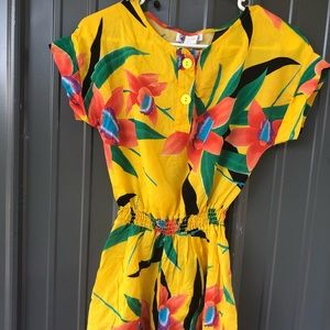 Vintage • 1980's Tropical Romper